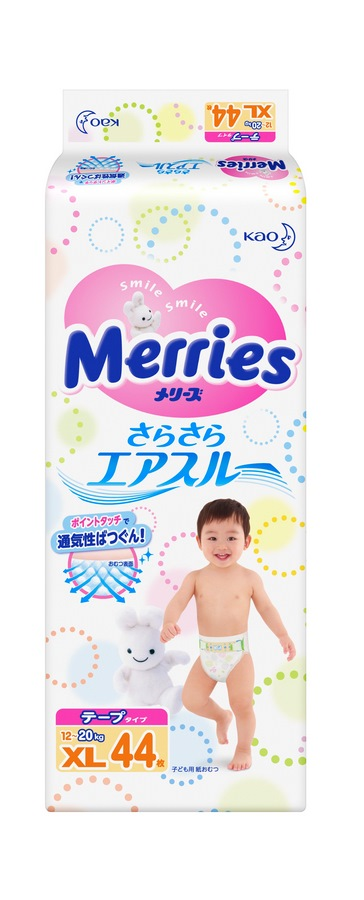 Подгузники Merries XL (12-20 кг, 44 шт)