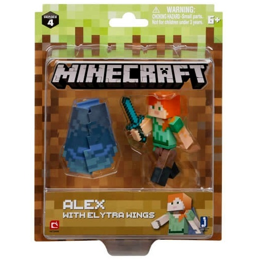 Фигурка Minecraft Alex With Elytra Wings