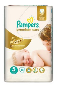 Pampers подгузники premium care junion (11-18 кг) микро уп. 18