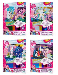 "Чудо-тв. my little pony™. аппликация из фольги ""пони"" 4 вида в асс-те.  21*30 см.  арт. 02389  (247379)"