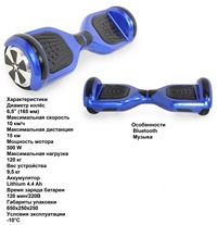 Гироборд Hoverbot  A-3 LED Light -blue
