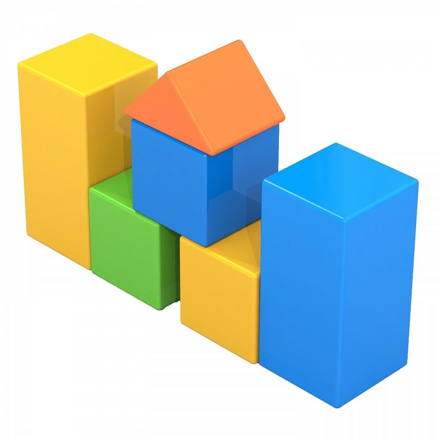 Конструктор выдувной кубики - 8    (в сетке)