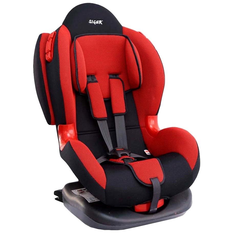 Детское автомобильное кресло siger кокон изофикс гр.1-2 (красный)