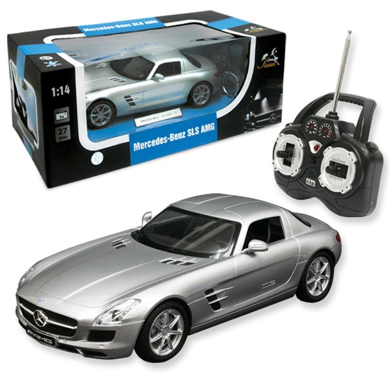 1:14 mercedes-benz sls amg на ру с аккумулятором, машины ру
