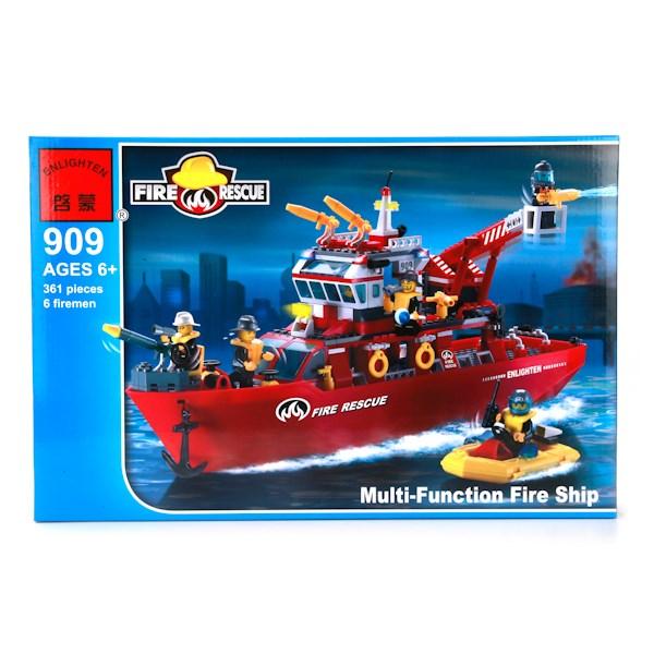 Конструктор пласт. корабль пожарной службы с аксесс., 361дет. в кор. в кор.2*9шт