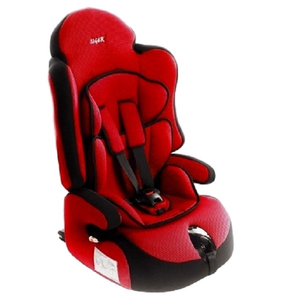 Детское автомобильное кресло прайм изофикс груп.1-2-3 (красный)