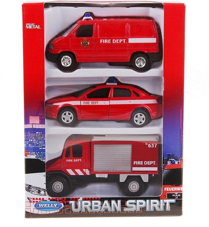 Игрушка набор машин пожарная служба 3 шт.