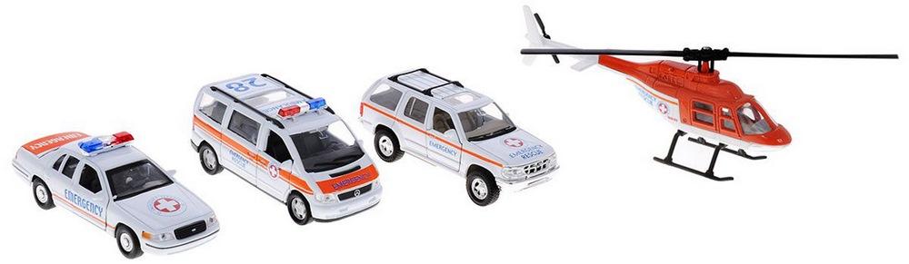 Игрушка набор машин скорая помощь 4 шт.98160-4d
