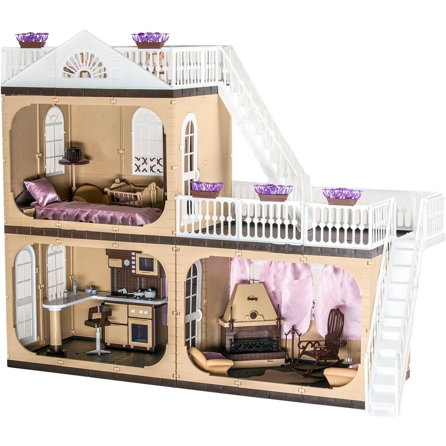 Кукольный коттедж коллекция с мебелью и аксесс. 80см