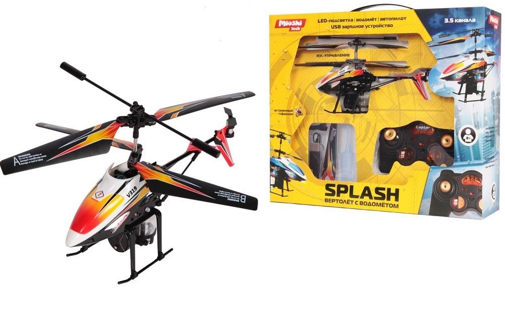 Вертолет и/к mioshi tech splash (вертолет с водометом, 3,5 канала, гироскоп, автопилот, 22 см, usb)