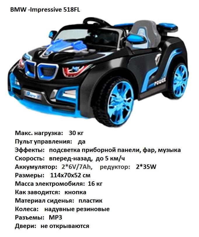 Электромобиль TjaGo BMW-Impressive (3-6 лет) голубой