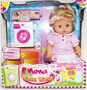 Кукла Nena 42 см. со стиральной машиной, аксесс., в кор. 38*39,5*16,5 см