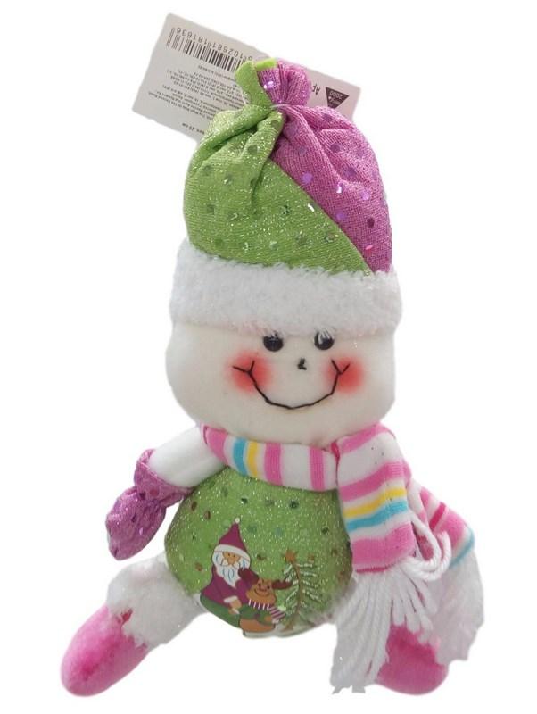 Снеговик, 20 см, 2 в ассортименте, в полибеге 181636