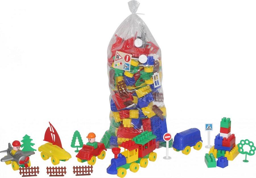 Конструктор строитель (178 элементов) (в пакете), арт. 52544