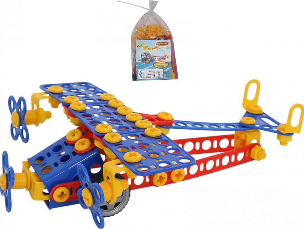 Конструктор изобретатель - самолёт №2 (144 элемента) (в пакете) новинка!, арт. 55019