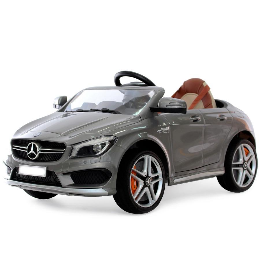 Электромобиль А777АА Mercedes-Benz CLA 45 (1-8 лет) серебристый