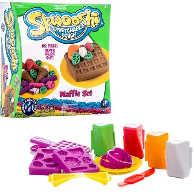 Набор для творчества skwooshi вафли - масса для лепки и аксессуары