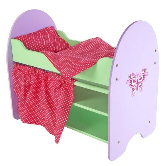 Мебель для кукол кроватка бабочка трех ярусная