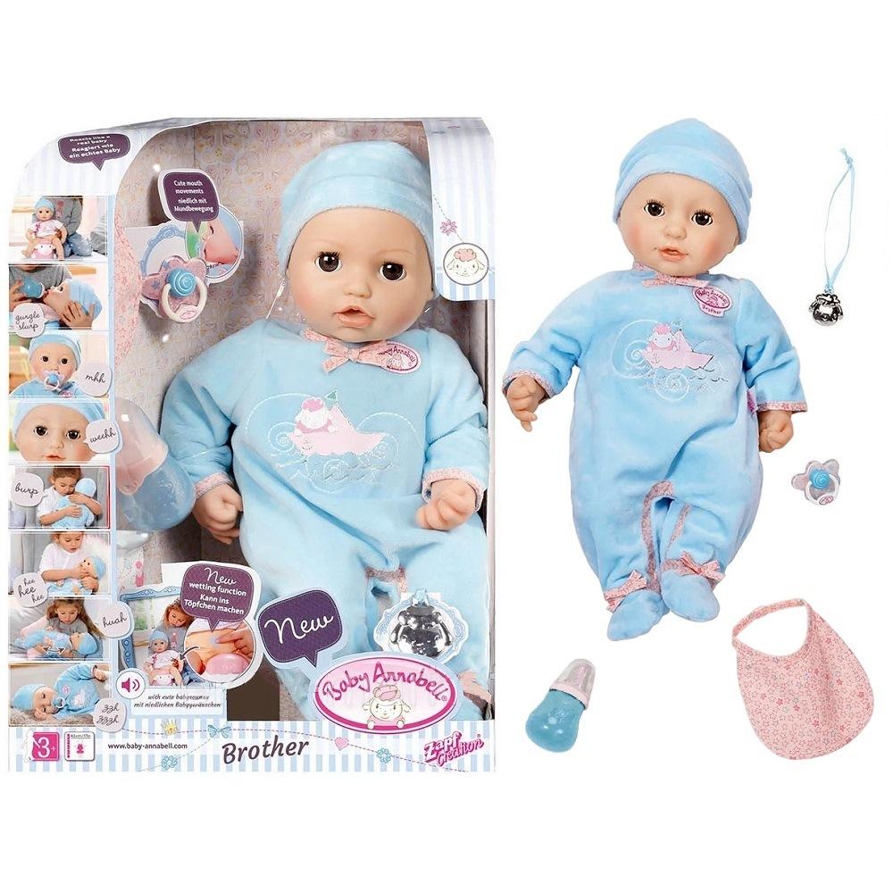 Игрушка baby annabell кукла-мальчик многофункциональная, 46 см, кор.794-654