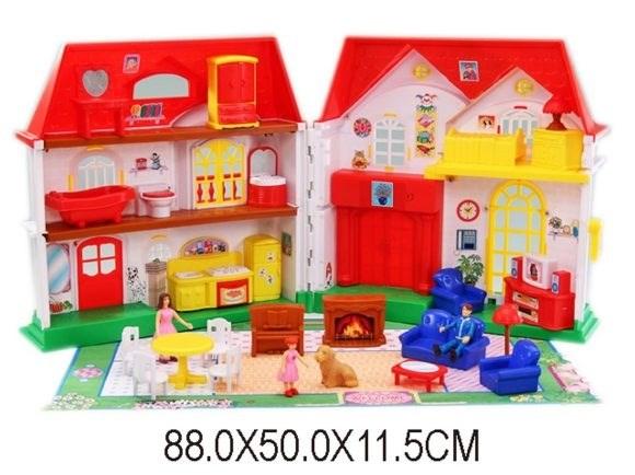 Кукольный домик с фигурками и аксесс. 88*50*11.5 см