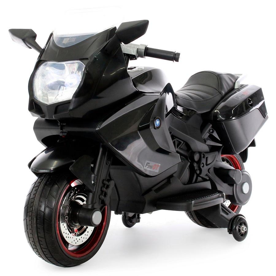 Электромотоцикл А007МР от 1 года (свет, звук, черный)