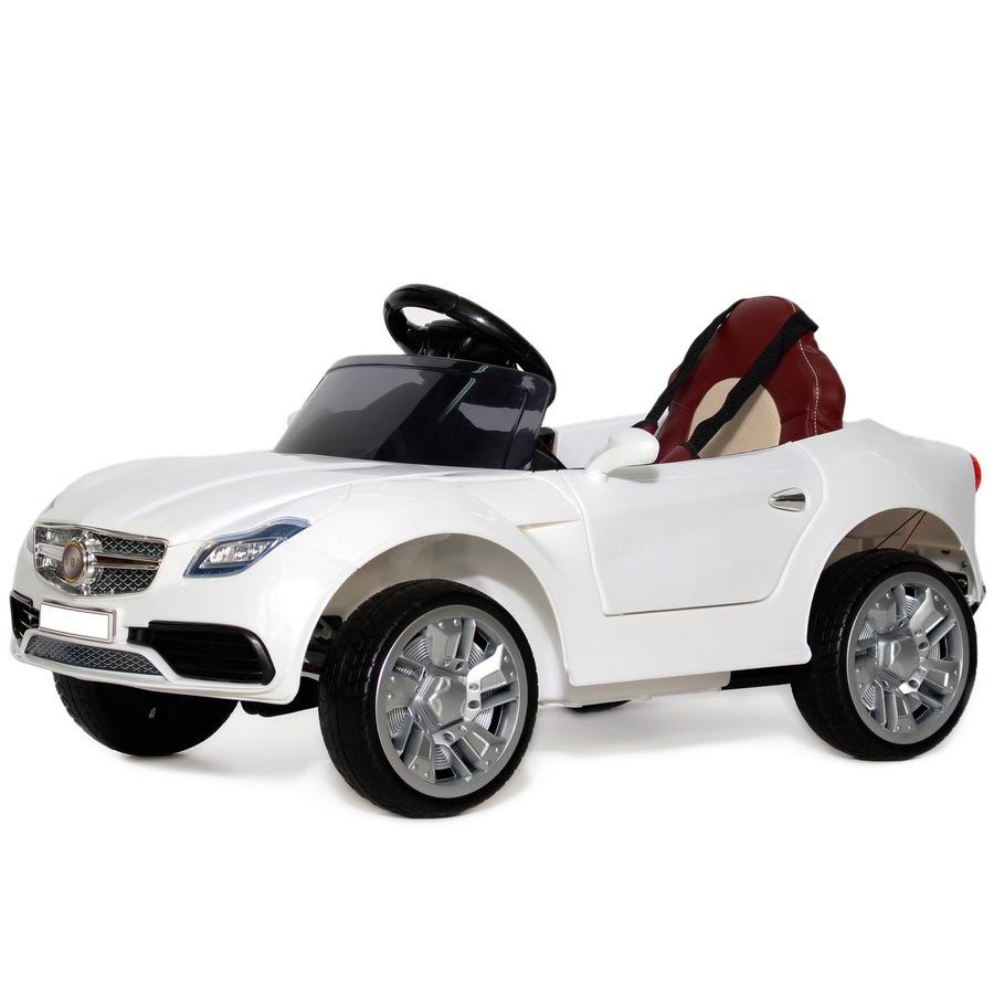 Электромобиль Mercedes О333ОО (1-6 лет) кож.сиденье белый