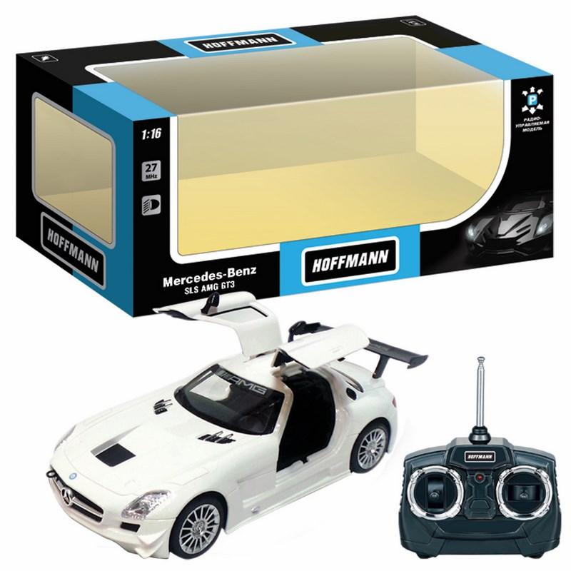 Машина р/у mercedes-benz sls amg gt3 1:16, свет, двери открыв., цвет в ассорт., машины и мотоциклы