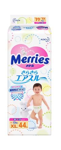 Merries подгузники для детей размер XL 12-20 кг/ 44шт (117135)