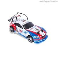 Р/у автомобиль mioshitech on-road rally racer 1:18, до 15 км/ч бело-синий (23 см, пульт с колесом, съёмный корпус, аккум. в комплекте) (124605)