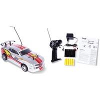 Р/у автомобиль mioshitech on-road rally racer 1:18, до 15 км/ч серо-красный (23 см, пульт с колесом, съёмный корпус, аккум. в комплекте) (132008)