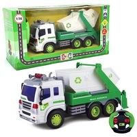 Машина р/у грузовик-контейнерный мусоровоз, свет, 26,5*10*14см, машины и мотоциклы (172681)