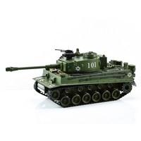 "Танк р/у mioshi army ""тигр-мi"" (44 см, стрельба, 1:20 масштаб, движение 360°, свет., звук. эффекты, пульки 6мм, мишень, аккум., бат., зелён.) (189410)"