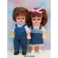 """Набор из 2-х кукол """"настенька"""" (мальчик и девочка) 16,5см с нарис. глазами в пак. в кор.6*36наб (190713)"""