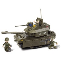 """Конструктор пластмассовый sluban """"вооружённые силы: танк """"абрамс"""" (219 деталей) (199185)"""