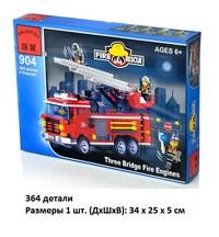 """Конструктор enlighten brick серия пожарные спасатели """"пожарная машина с командой"""" (364 дет.)  (209827)"""