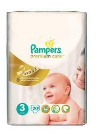 Pampers подгузники premium care midi (5-9 кг) микро уп. 20 (213251)