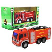 Машина р/у грузовик-пожарная автоцистерна, свет, 26*10*14,5см, машины и мотоциклы (214469)