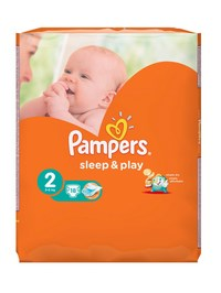 Pampers подгузники sleep & play mini (3-6 кг) упаковка 18 (224575)