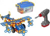 """Конструктор """"Изобретатель"""" - """"Самолёт №2"""" (144 элемента) (в контейнере) НОВИНКА!, арт. 55217 (234717)"""