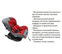 """Автокресло """"Mind"""" LB303 isofix (гр.1 от 9-18 кг.) (серый+красный) (238395)"""