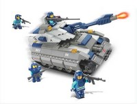 """Конструктор пластмассовый sluban """"военный спецназ: танк"""" (в наборе фигурки людей, 260 деталей)  (240334)"""