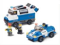 """Конструктор пластмассовый sluban """"полицейский спецназ: броневик и джип"""" (в наборе фигурки людей, 337 деталей)  (240341)"""