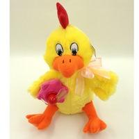 Петушок яшка, 28см, поет, танцует,в пакете, мягкие игрушки мех. и интерактив. (245698)