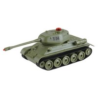 """Танк р/у mioshi army """"танковый бой: легендарная 34-ка"""" (20 см, и/к лучи, 1:32, повор. башни, эффекты, свет/звук, аккум.,27mгц, зел.)  (247058)"""