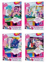 "Чудо-тв. my little pony™. аппликация из фольги ""пони"" 4 вида в асс-те.  21*30 см.  арт. 02389  (247379)"