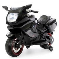Электромотоцикл А007МР от 1 года (свет, звук, черный) (255615)