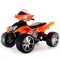 Электроквадроцикл RiverToys Е005КХ от 3 лет (свет, звук, оранжевый, кожа) (255629)
