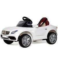 Электромобиль Mercedes О333ОО (1-6 лет) кож.сиденье белый (260961)