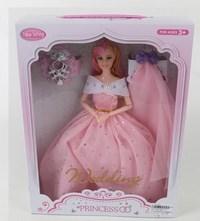 Кукла невеста 29 см в роз.платье с аксесс (2 шт.), шарнирная, кор. (276214)