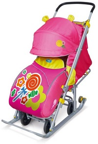 """Санки-коляска """"Ника детям 7"""" конфеты розовый НД7 (285458)"""